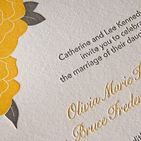 Lovely wedding invitations – cute modern letterpress design