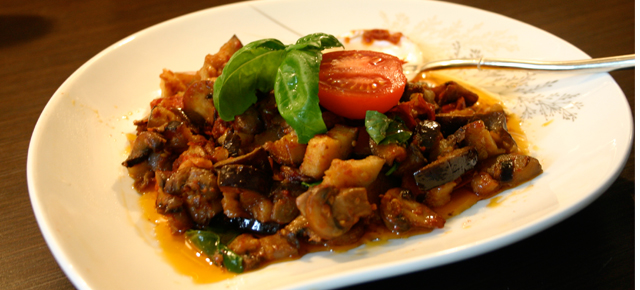 Healthy and easy to make stir fry eggplant recipe