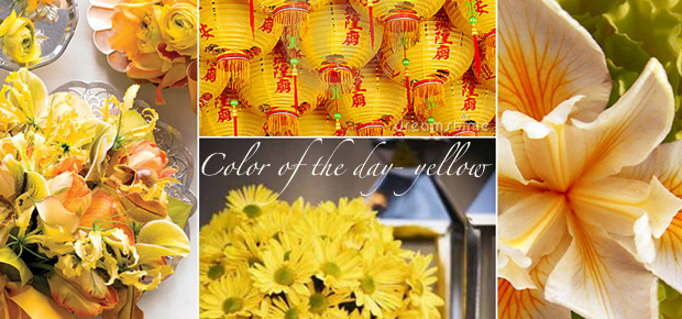 Color of the day – exciting yellow