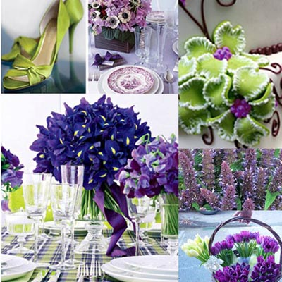 Fresh Green And Purple Wedding Theme Ideas