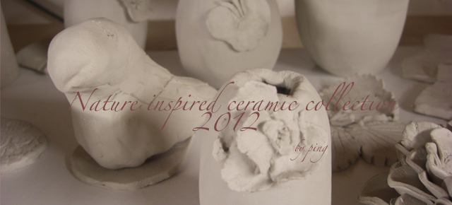 Nature inspired ceramic collection