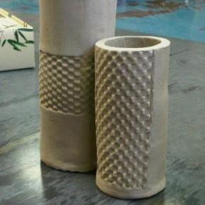Handmade geometric vases