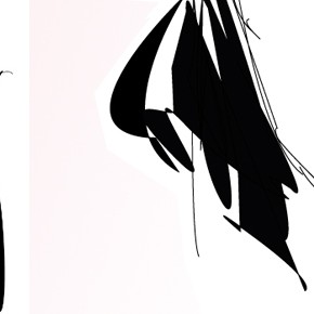 sexy black top girl- fashion illustration of the day