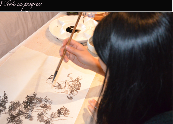 ping Chinese Ink Painting work in progress 2